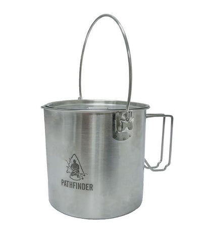 Pathfinder Stainless Steel 64oz Bushpot & Lid