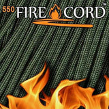 25ft Olive Green Live Fire 550 Firecord