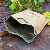 Heavy Duty Waxed Canvas Bushcraft Pouch - Olive