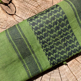 100% Cotton - Olive & Black Shemagh