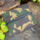 Flat Lay Waxed Canvas Zipped Storage Pouch - DPM Camo