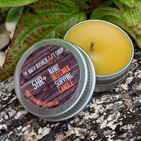 Nano 100% Beeswax Survival Candle