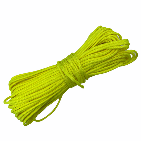 550 Paracord USA Made - Neon Yellow - 100ft