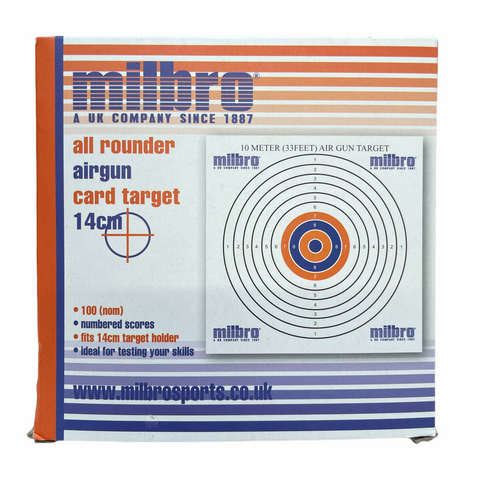 Milbro 14cm 33ft Airgun Card Targets