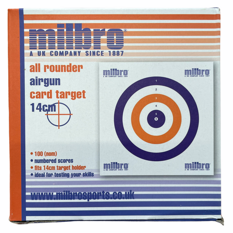 Milbro 14cm All rounder Airgun Card Targets