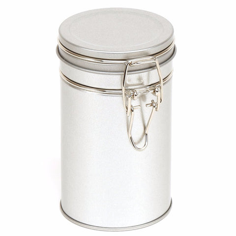 850ml Silver Clip Lid Storage Tin