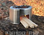 The Bath Bushcraft Shop 750ml Stainless Steel Cup & Stove Set