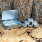 Silver Hinged Tobacco Storage Tin Selection Pack