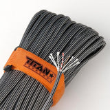 Titan SurvivorCord Paracord - Black Steel