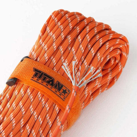 Titan SurvivorCord Paracord Reflective Orange