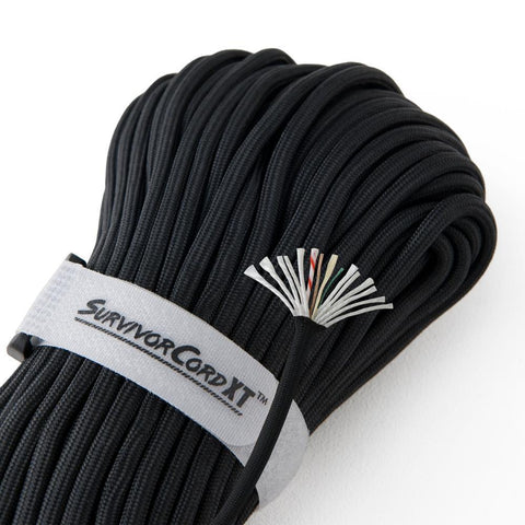 Titan SurvivorCord XT Paracord - Black