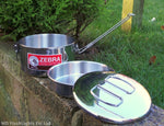Zebra 14cm Stainless Steel Lunchbox Billycan