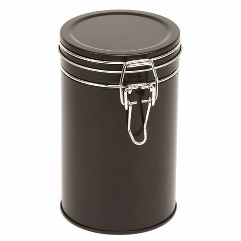 850ml Black Clip Lid Storage Tin
