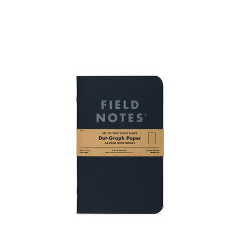Copy of Field Notes - Pitch Black Notebook 2 Pack - Dot Graph