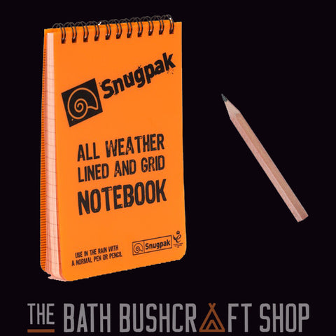 SnugPak A6 All Weather Notepad- Orange