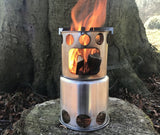 Stainless Steel Round Wood Burning Stove