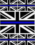 5 x Thin Blue Line Union Jack Vinyl Stickers