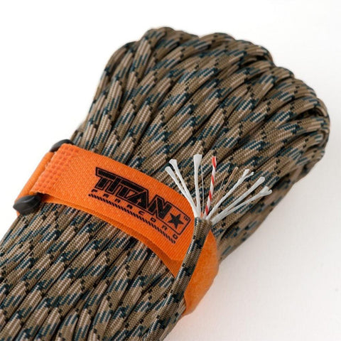 Titan SurvivorCord Paracord Forest Camo