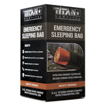 Titan Emergency Foil Sleeping Bag Safety Orange