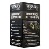 Titan Emergency Foil Sleeping Bag Woodland Camo
