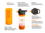 Grayl Geopress Water Filter - Visibility Orange