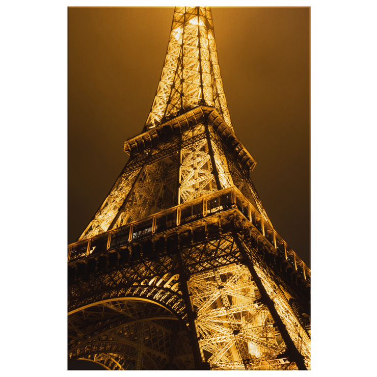 Paris France Eiffel Tower Glow - Canvas print for home, vacation home, or Office