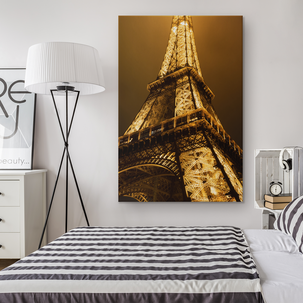 Eiffel Tower print on a single piece of canvas