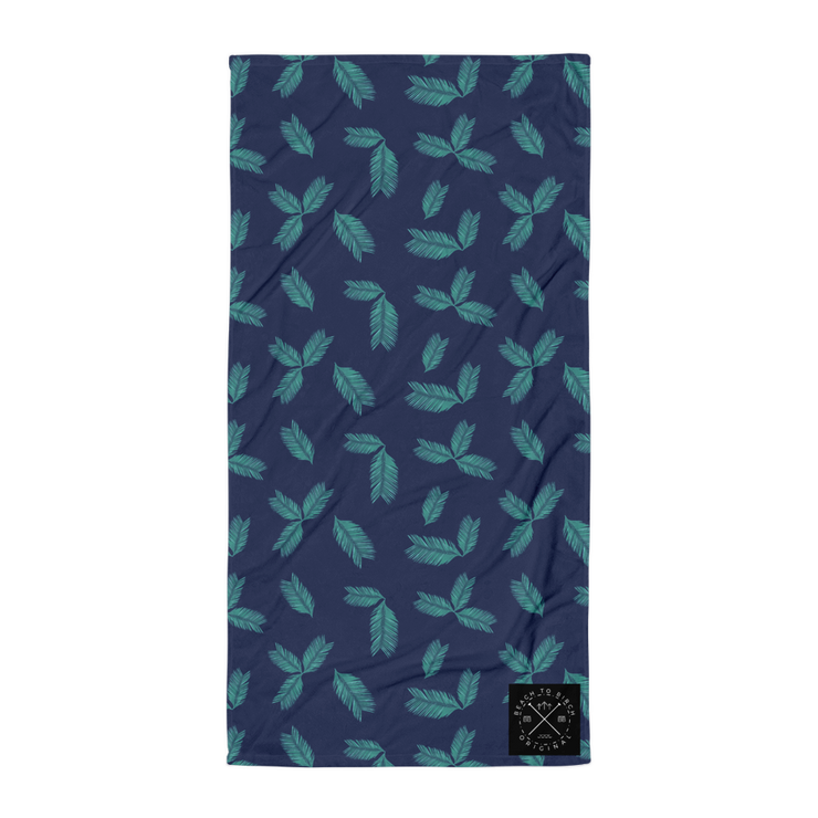 Green Palm Beach Towel