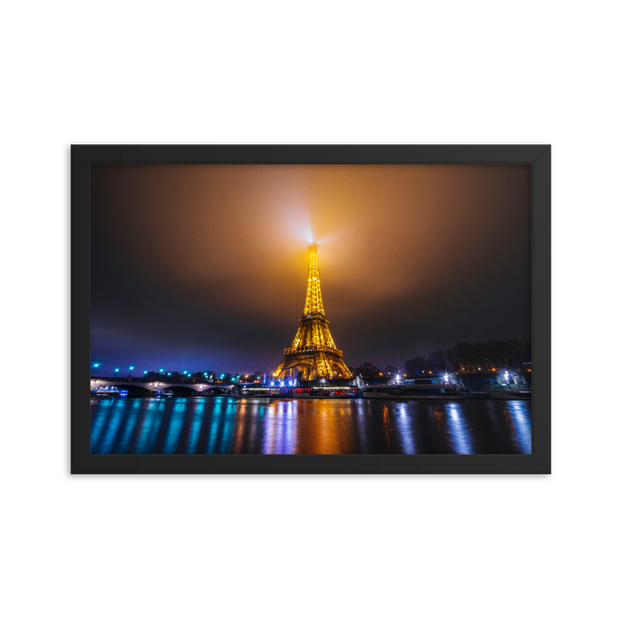 Eiffel Tower Framed poster