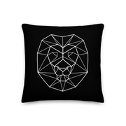White lion pillow geo artwork