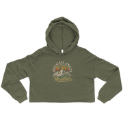 Mountains Crop Hoodie