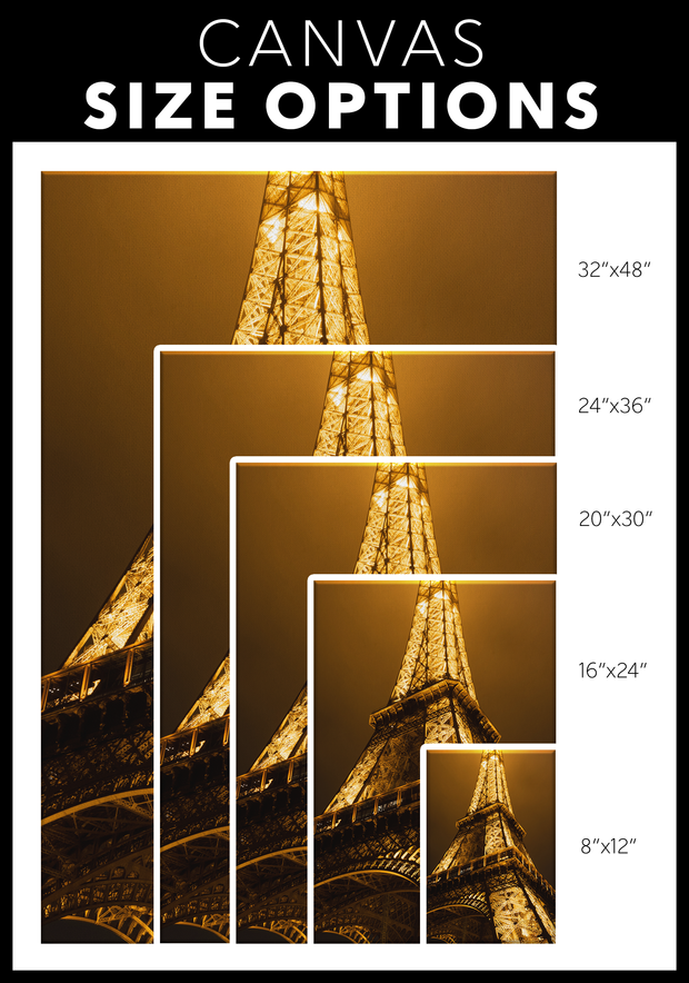 Eiffel Tower canvas print for any room