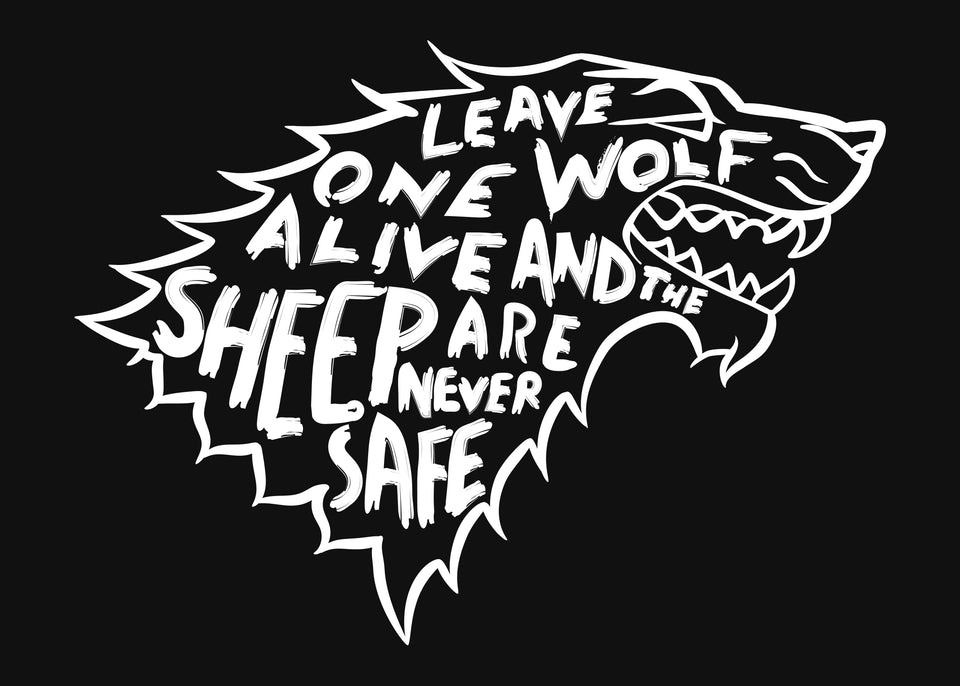 LEAVE ONE WOLF-PLAYERA