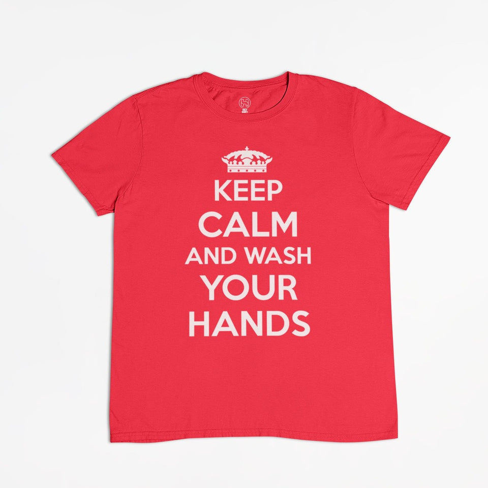 Playera Coronavirus Keep Calm and Wash Your Hands