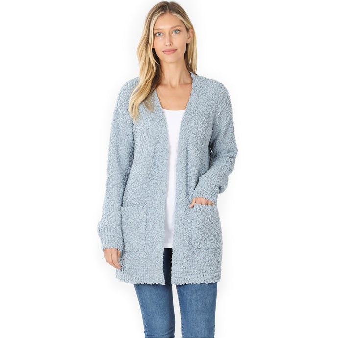 Poppy Cardigan -Ash Blue