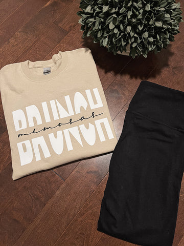 Brunch & Mimosas Long Sleeve Top
