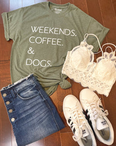 Weekends, Coffee & Dogs Tee