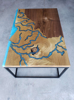 Custom solid wood side tables