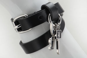 Playboy Double Wrap Leather Bracelet