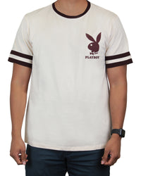 Playboy Men's Ringer Tee