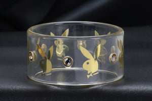 Playboy Clear Bangle Bracelet