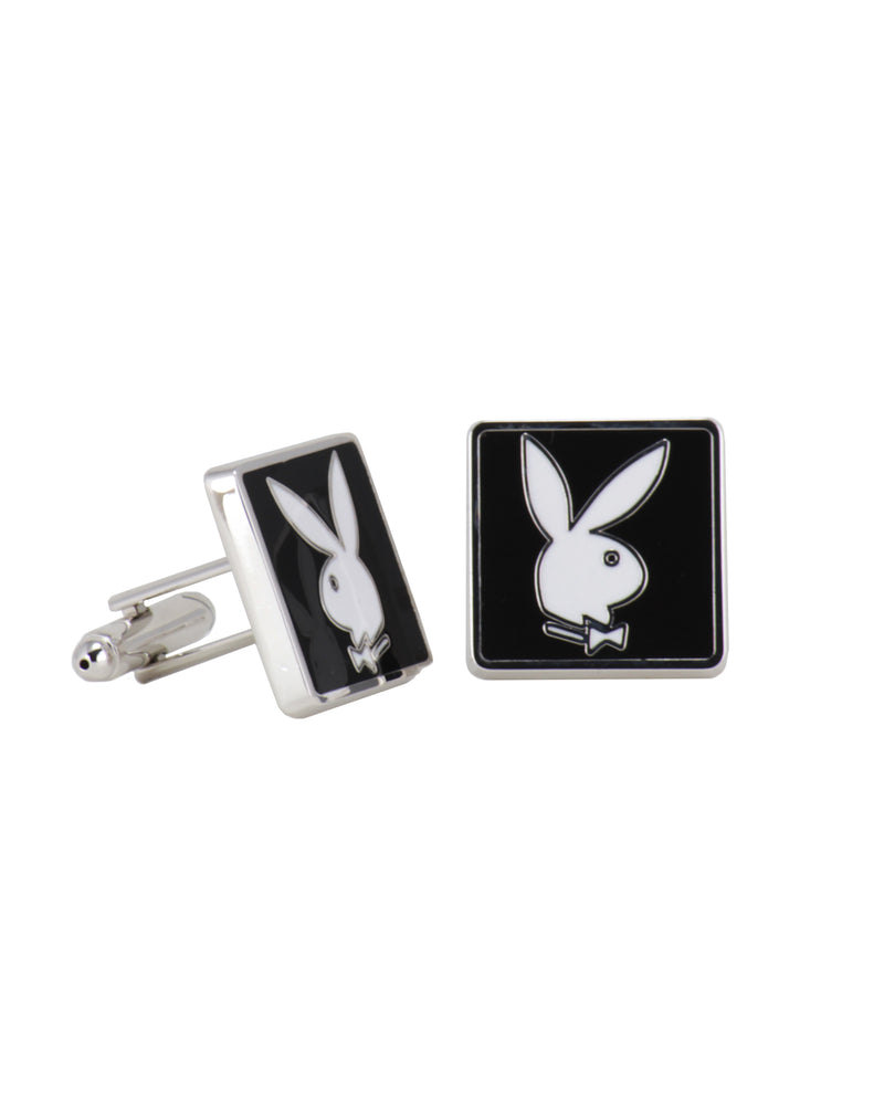 Playboy Replica Black Enamel Cuff Links