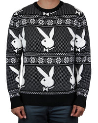 Playboy Men's Intarsia Knit Sweater