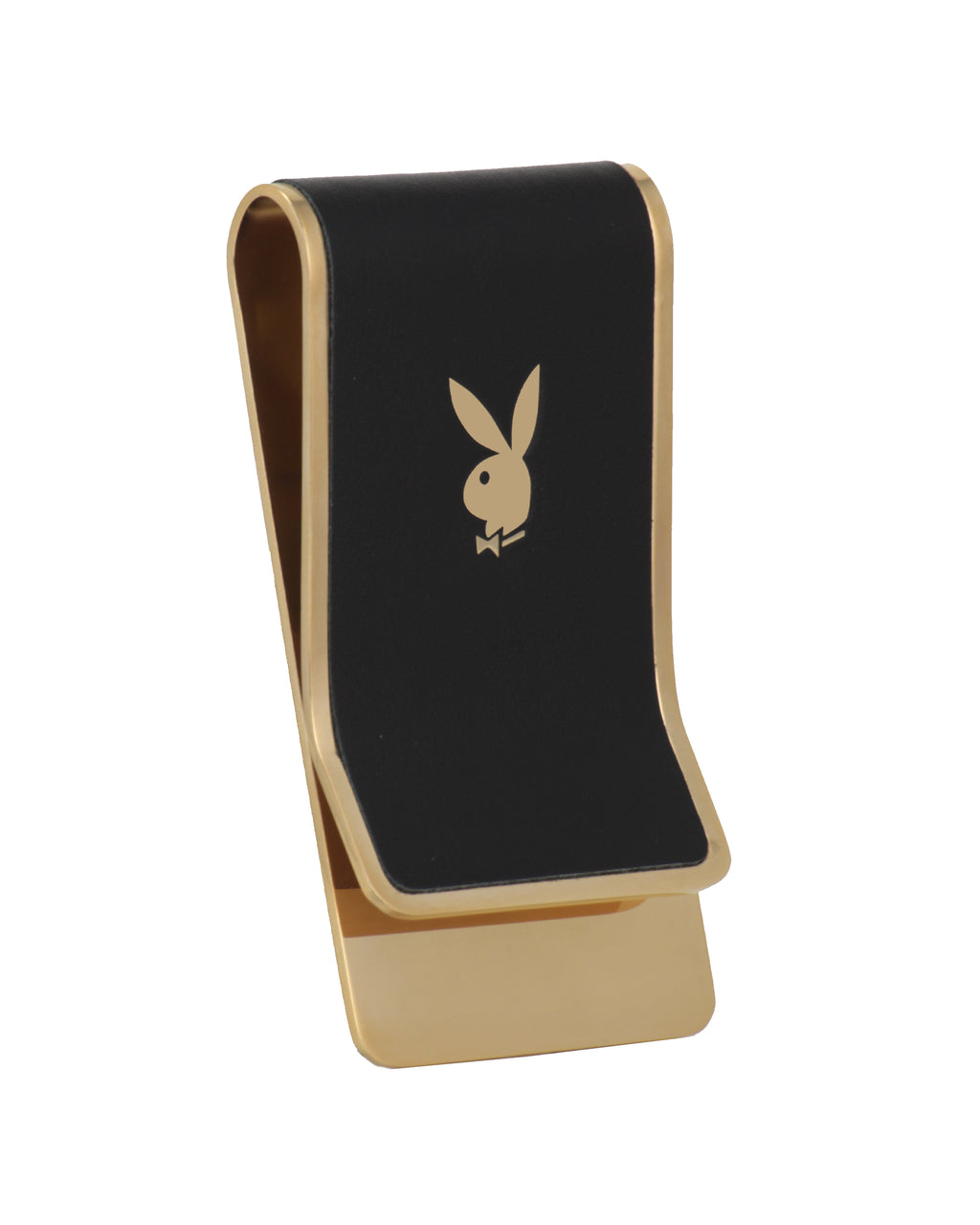 Playboy Leather and Stainless Steel Money Clip