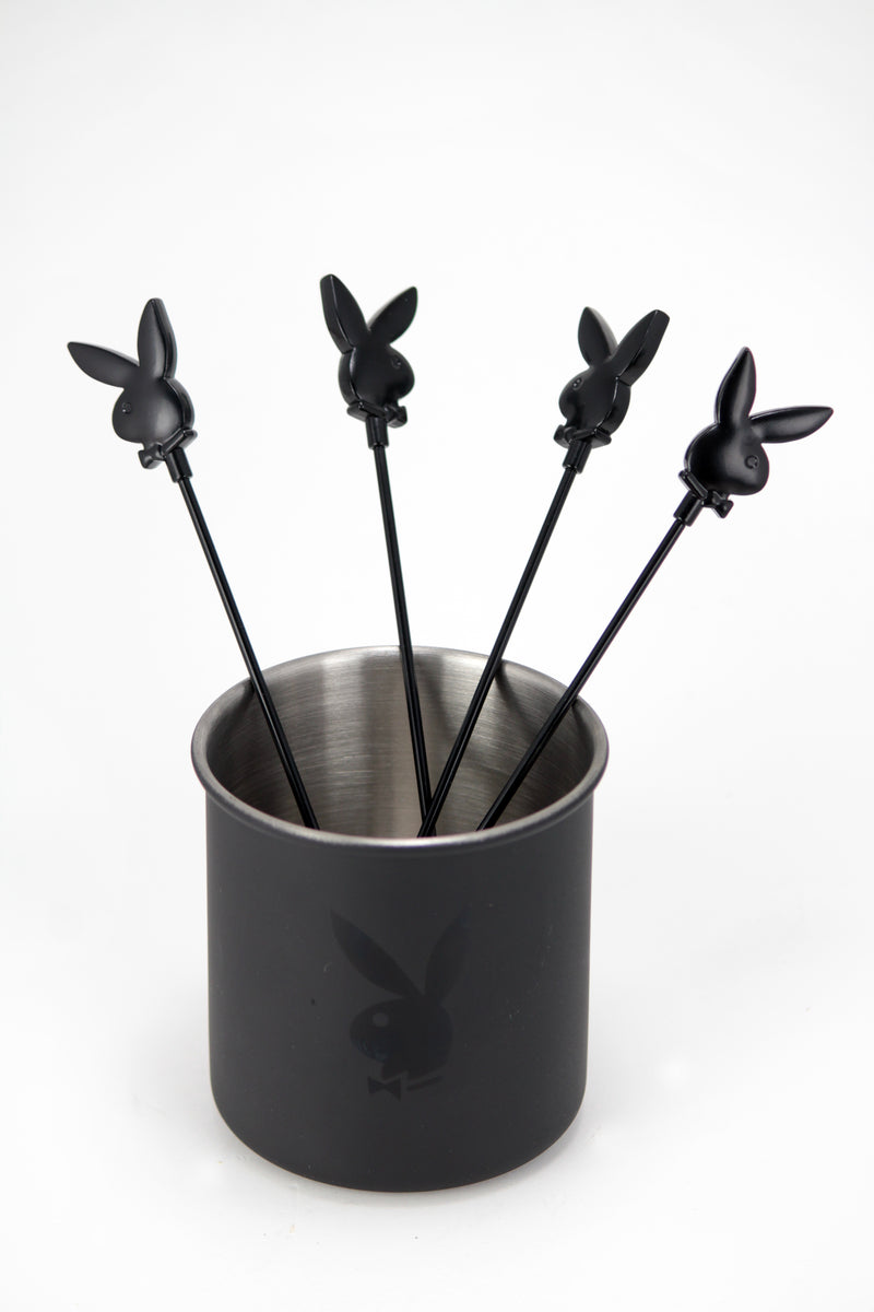 Playboy Secret Cup and Swizzle Stick Set