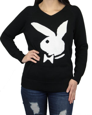 Playboy Women's V-Neck Knit Sweater