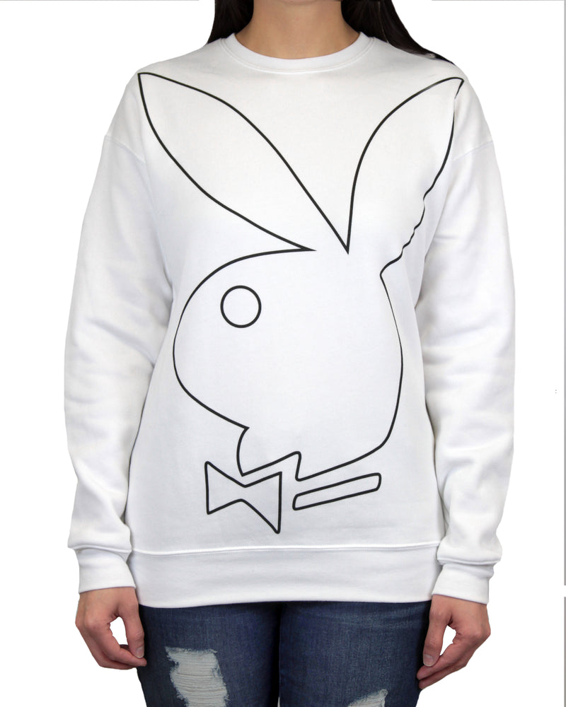 Playboy Black Tie Drop Shoulder Women's Sweatshirt