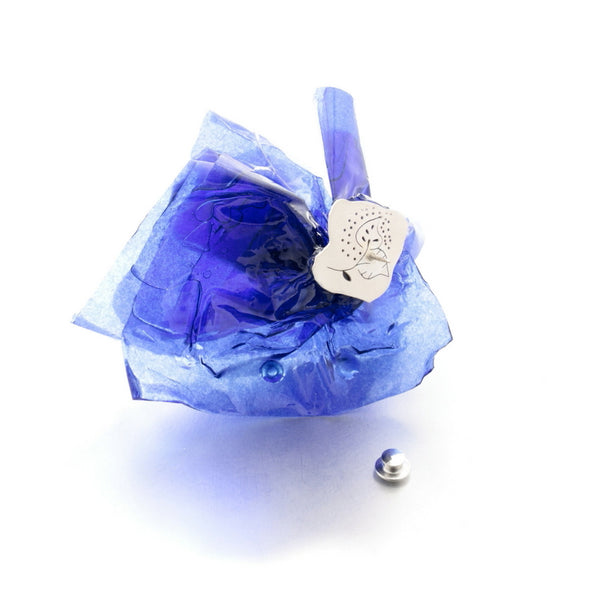 contemporary art jewellery, wearable art, online jewelry store, blue brooch by Izabella Petrut