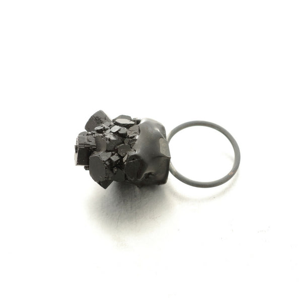 Small black resin ring