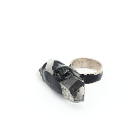 Dramatic ring with Quartz, Izabella Petrut, silver jewellery, online shop